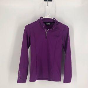 Sunice purple half zip base layer medium